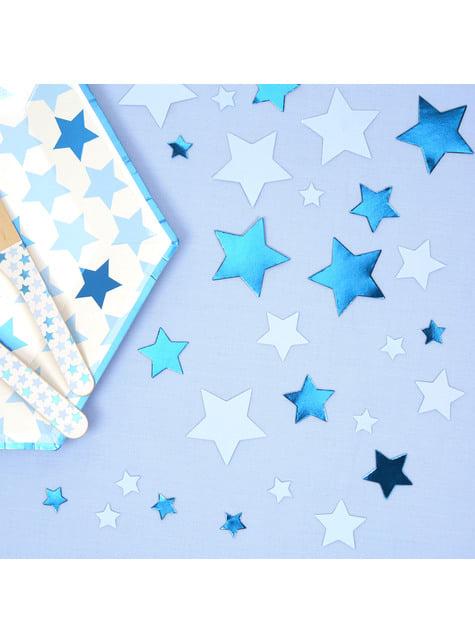 Blauwe tafel confetti - Kleine Blauwe Ster