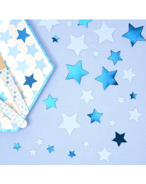 Confettis de table bleus - Little Star Blue