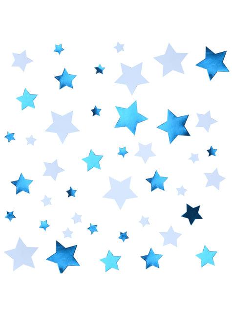 Confeti para mesa azul - Blue Star - para tus fiestas