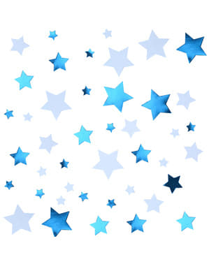 Bordskonfetti blå - Little Star Blue