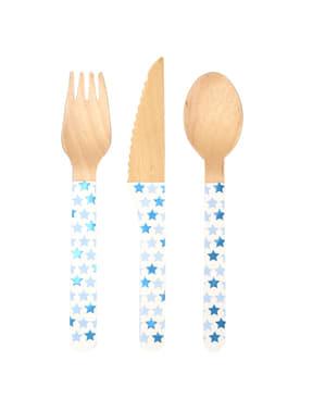 24 drvena pribora za jelo - Mala Plava Zvijezda