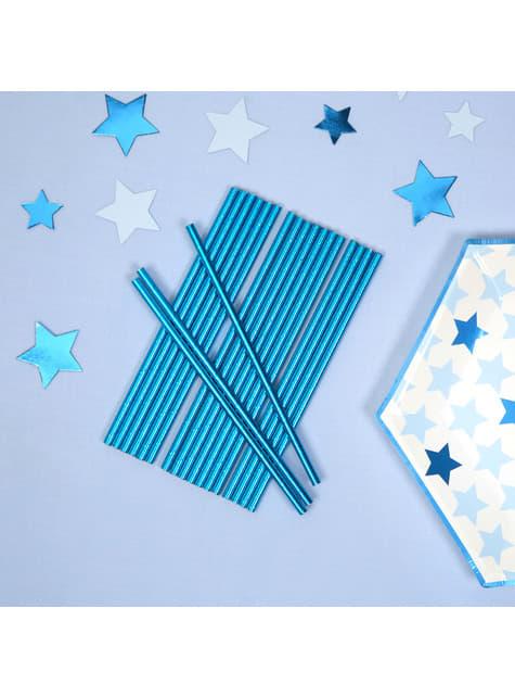 25 pajitas azules - Blue Star