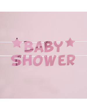 "Pink ""Baby Shower"" garland - Little Star Pink"