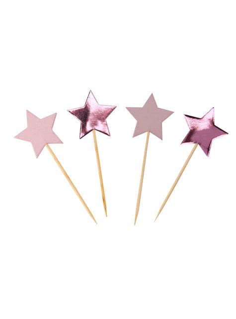 20 pics décoratifs pour gâteau en forme d'étoile - Little Star Pink