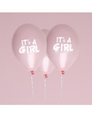 8 ballons en latex - Little Star Pink