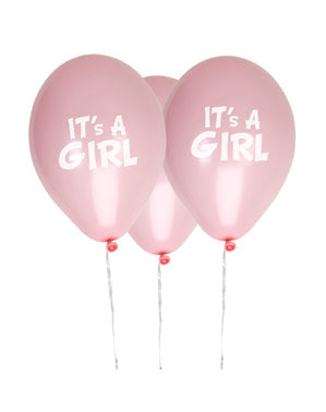 8 palloncini di lattic (30 cm) - Little Star Pink