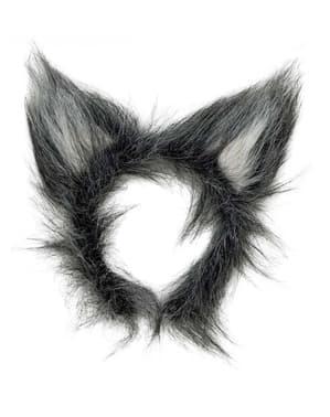 Serre-tête oreilles poilues de loup