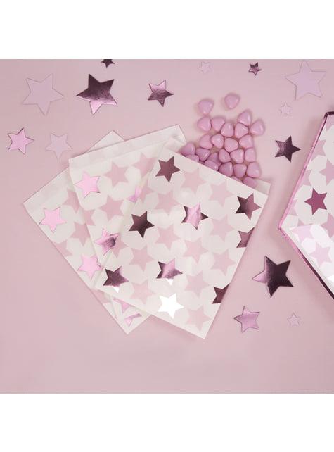 25 bolsitas de papel - Pink Star