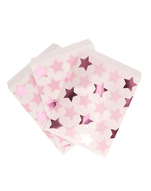 Papiertüten Set 25-teilig - Little Star Pink