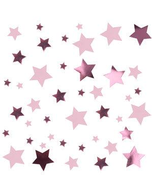 Rozi stolni konfeti - Male Roze Zvijezde