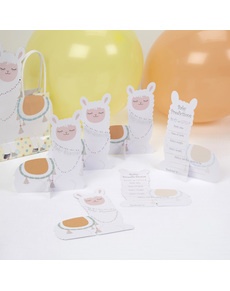 8790e83ee Set de 10 tarjetas de predicción nacimiento de papel - Llama Love ...