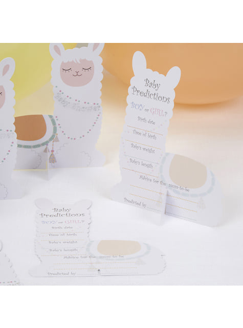 10 paper expecting cards - Llama Love