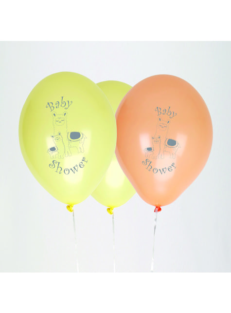 8 globos de látex (30 cm) - Llama Love - para tus fiestas