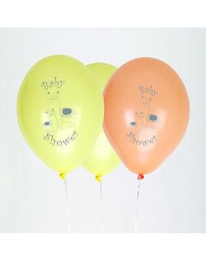 Sada 8 latexových balonků - Llama Love