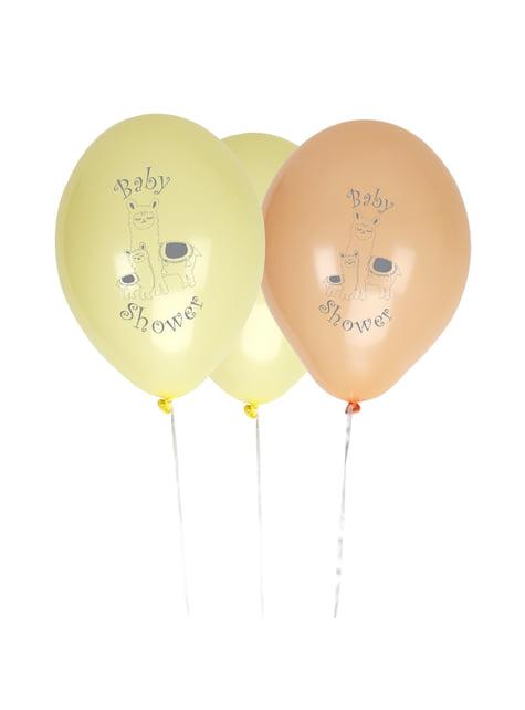 8 globos de látex (30 cm) - Llama Love