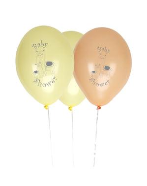 Sett med 8 latex ballonger - Llama Love