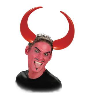 Hårbøjle med oppustelige djævlehorn