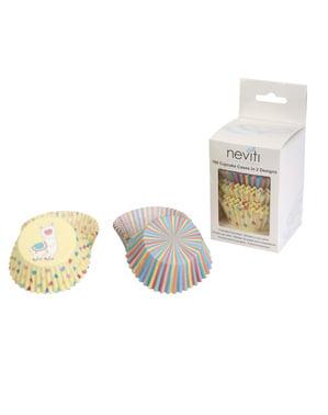 Комплект от 100 кутии за хартиени кексчета - Llama Love