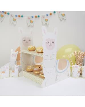 Kake og muffinsstativ - Llama Love