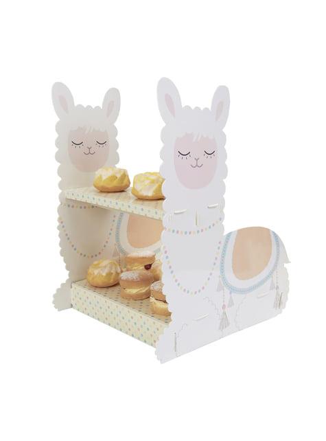 Cake and cupcake stand - Llama Love