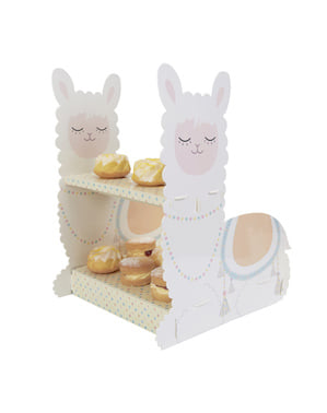 Cake and cupcake stand - Llama Love