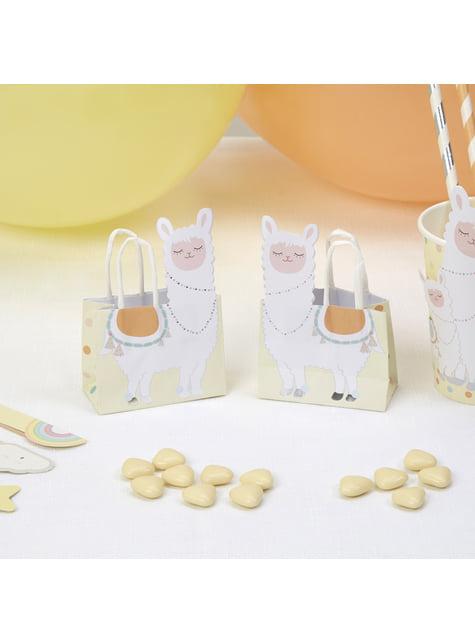 10 bolsas para chucherías de papel - Llama Love