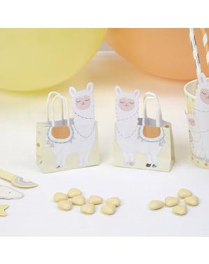 Комплект от 10 хартиени сладки чанти - Llama Love