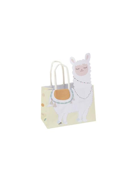 10 bolsas para chucherías de papel - Llama Love - para tus fiestas