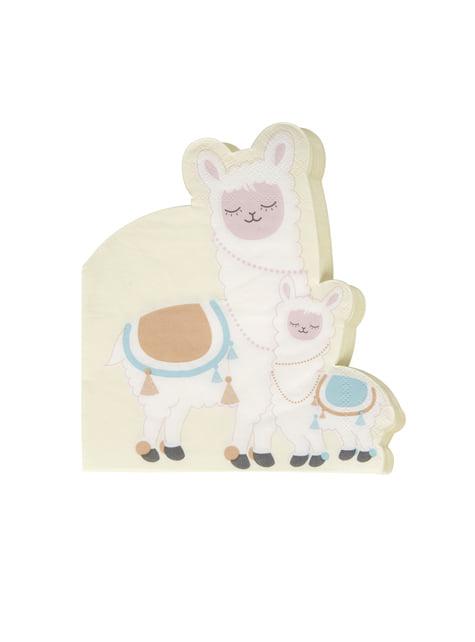 16 servilletas de papel (33x33 cm) - Llama Love - para tus fiestas