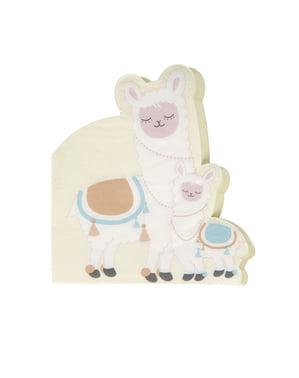 16 serviettes en papier - Llama Love