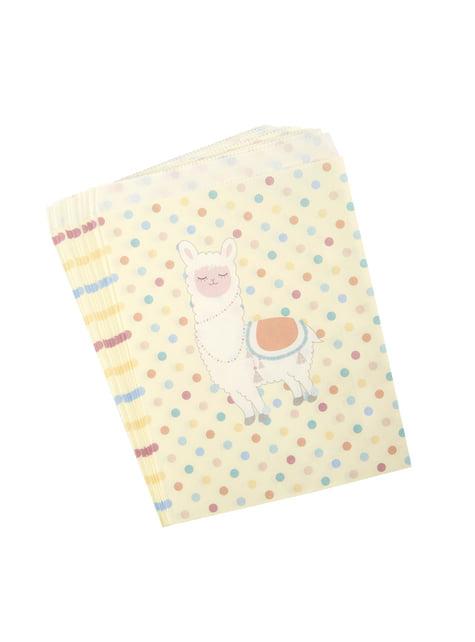 25 Paper Party Bags - Llama Love