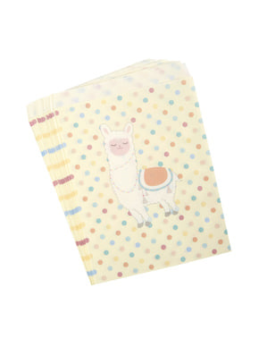 25 sacchetti di carta - Llama Love