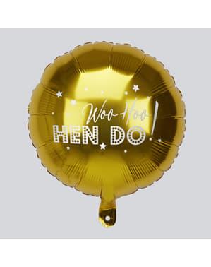 Balão foil em dourado