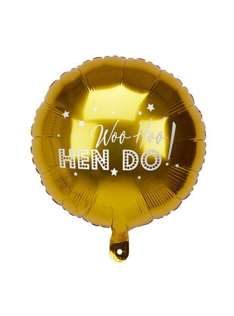 Folieballong i gull