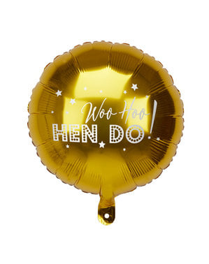 Foil balloon in gold