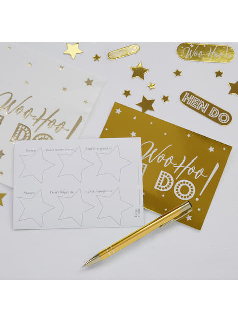 10 cartes amusantes en carton  - Woo Hoo Hen Do