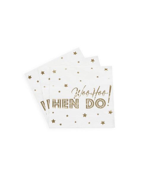 16 servilletas de papel (33x33 cm) - Woo Hoo Hen Do - para tus fiestas