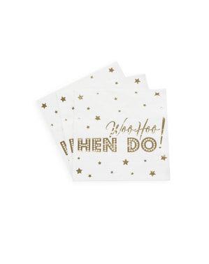 Комплект от 16 хартиени салфетки - Woo Hoo Hen Do