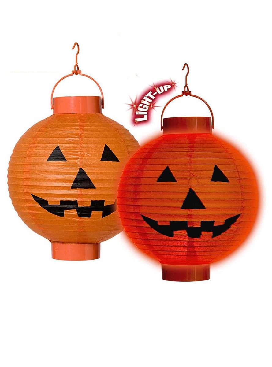 Lanterna zucca luminosa de feste funidelia for Zucca halloween luminosa