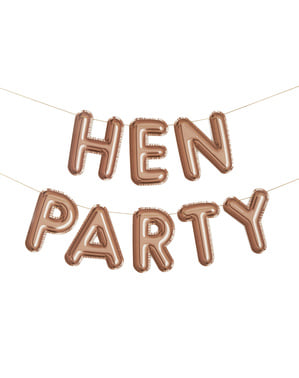 ローズゴールド「Hen Party」ガーランド - グリッツ&グラマー
