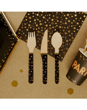 24 wooden cutlery pieces - Glitz & Glamour