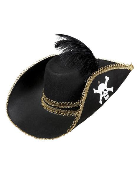 Sombrero de capitán pirata para adulto