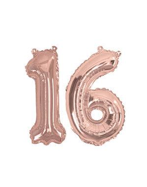 "Balon foliowy ""16"" rose gold 40cm - Glitz & Glamour Pink & Rose Gold"
