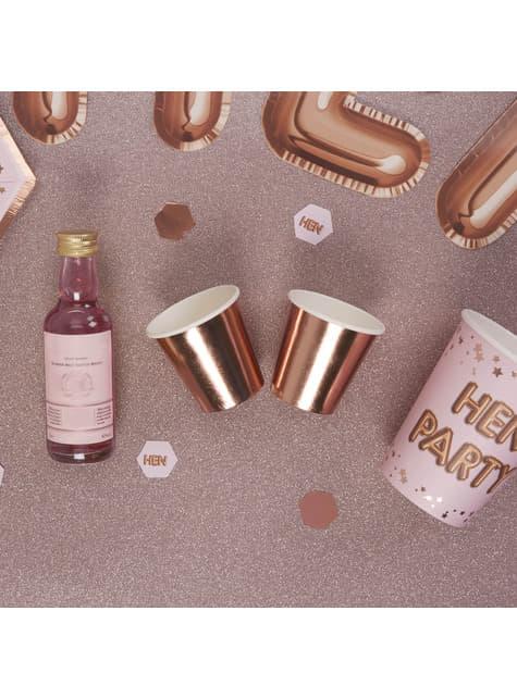 Sett af 8 litlum pappírsbollum í hækkuðu gulli - Glitz & Glamour Pink & Rose Gold