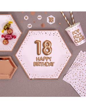 8 piatti esagonali di carta