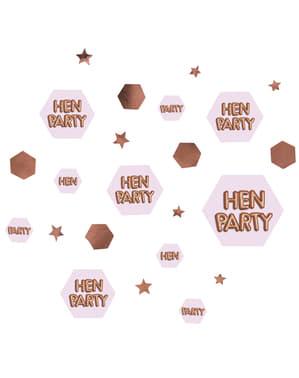 """Konfetti na stół """"Hen Party"""" - Glitz & Glamour Pink & Rose Gold"""