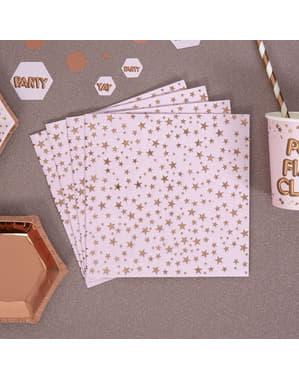 16 șervețele de hârtie (33x33 cm) - Glitz & Glamour Pink & Rose Gold