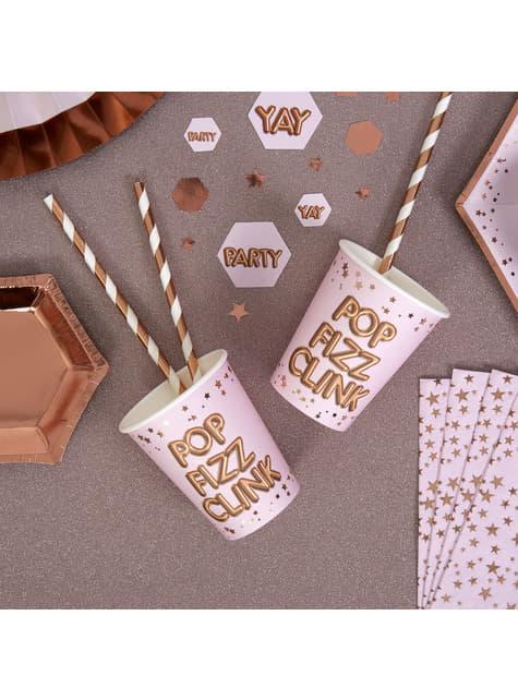8 gobelets en carton