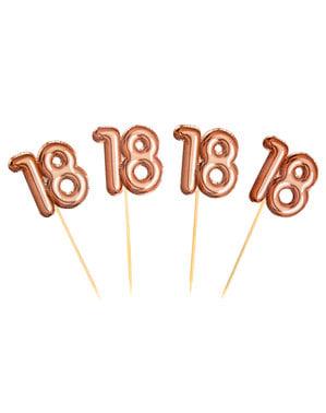 """ローズゴールド - グリッツ&グラマーピンク&ローズゴールドの20 """"18""""装飾つまようじのセット"""