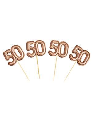 """20 """"50 somistehammastikkuja ruusukultaisena – Glitz & Glamour Pink & Rose Gold"""